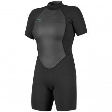 O'Neill Women's Reactor II 2mm Short Sleeve Back Zip Spring Wetsuit - Black