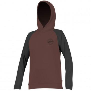 O'Neill Wetsuits Women's Print Hooded Long Sleeve Rash Guard - Pepper/Black