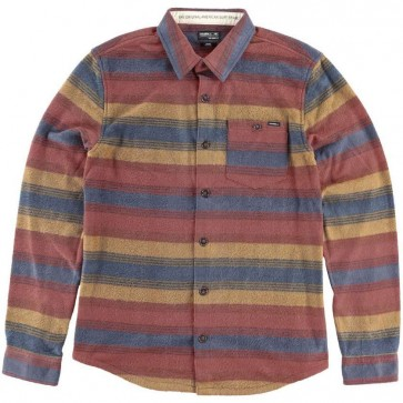 O'Neill Superfleece Glacier Stripe Flannel - Brown