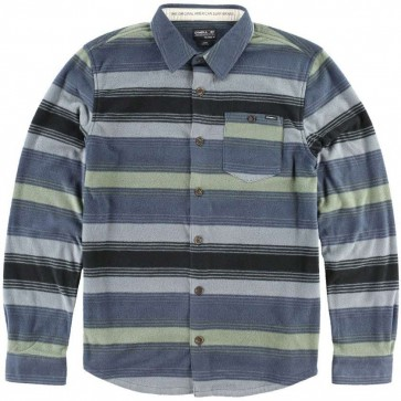 O'Neill Superfleece Glacier Stripe Flannel - Grey