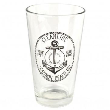 Cleanline Surf Anchor Cannon Beach Pint Glass