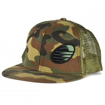 Cleanline Rock Flat-Bill Mesh Hat - Camo