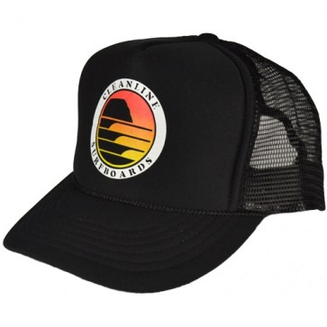 Cleanline Sunset Circle Mesh Hat - Black