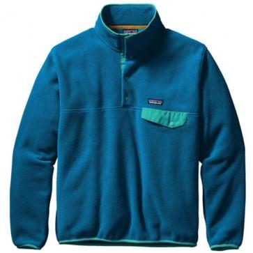 Patagonia Lightweight Synchilla Snap-T Fleece Pullover - Bandana Blue/Epic Blue