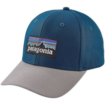 Patagonia P-6 Logo Roger That Hat - Big Sur Blue