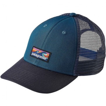 Patagonia Board Short Label LoPro Trucker Hat - Big Sur Blue