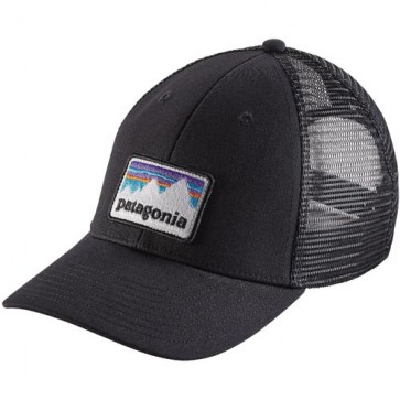 Patagonia Shop Sticker Patch LoPro Trucker Hat - Black
