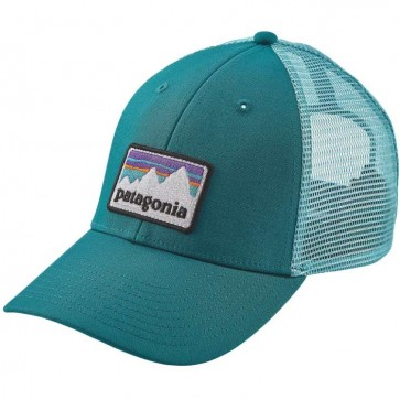 Patagonia Shop Sticker Patch LoPro Trucker Hat - Elwha Blue