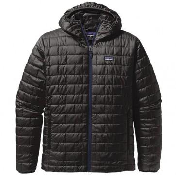 Patagonia Nano Puff Hooded Jacket - Black/Navy