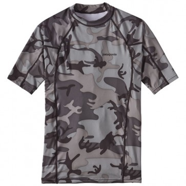 Patagonia Wetsuits R0 Short Sleeve Rash Guard - Forest Camo/Black/Grey