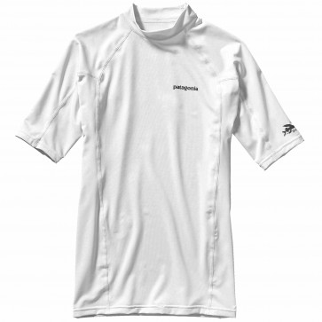 Patagonia Wetsuits R0 Short Sleeve Rash Guard - White