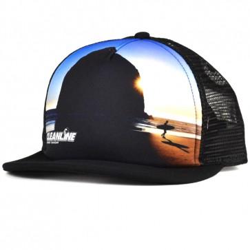 Cleanline Haystack Trucker Hat - Black
