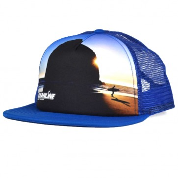 Cleanline Haystack Trucker Hat - Blue/Red