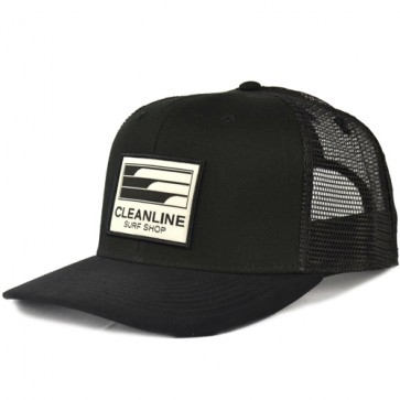 Cleanline Lines Trucker Hat - Black/Suede