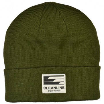 Cleanline Beanie - Olive