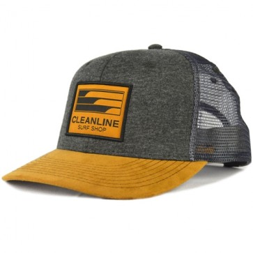 Cleanline Lines Trucker Hat - Charcoal/Tan