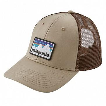 Patagonia Shop Sticker Patch LoPro Trucker Hat - El Cap Khaki