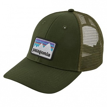 Patagonia Shop Sticker Patch LoPro Trucker Hat - Nomad Green