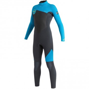 Quiksilver Youth Syncro 5/4/3 Back Zip Wetsuit - Graphite/Cyan