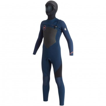 Quiksilver Youth Syncro 5/4/3 Hooded Chest Zip Wetsuit - Blue/Black