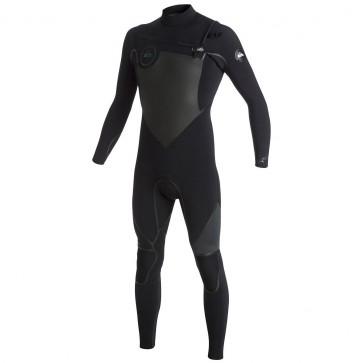 Quiksilver Syncro LFS 3/2 Chest Zip Wetsuit - Black/Graphite