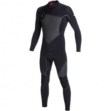 Quiksilver Syncro LFS 5/4/3 Back Zip Wetsuit - Black/Graphite