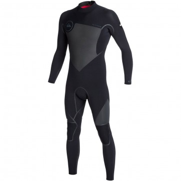 Quiksilver Syncro LFS 3/2 Back Zip Wetsuit - Black/Graphite