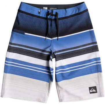 Quiksilver Youth Everyday Stripe Vee Boardshorts - Turkish Sea