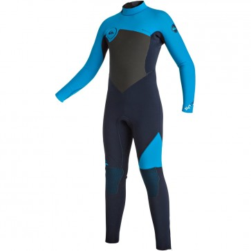 Quiksilver Youth Syncro 3/2 Back Zip Wetsuit - Navy Blazer