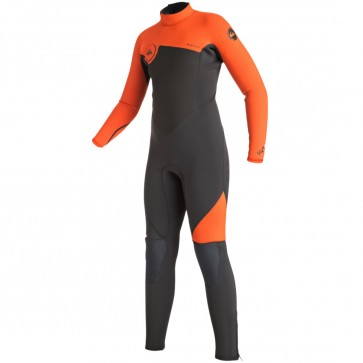 Quiksilver Youth Syncro 3/2 Flatlock Back Zip Wetsuit - Flame