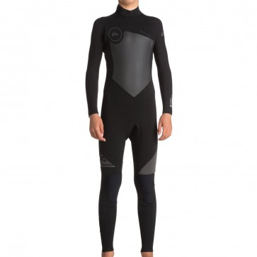 Quiksilver Youth Syncro 5/4/3 Back Zip Wetsuit - Black/Jet Black