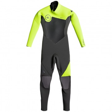 Quiksilver Toddler Syncro 4/3 Back Zip Wetsuit - Jet Black/Safety Yellow