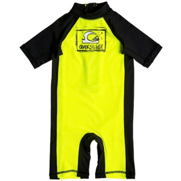 Quiksilver Wetsuits Toddler Bubble Rash Spring Suit - Yellow/Black