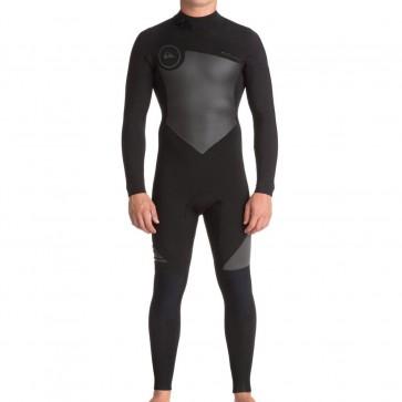 Quiksilver Syncro 3/2 Flatlock Back Zip Wetsuit - Black/Jet Black