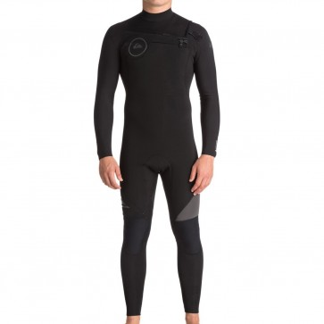 Quiksilver Syncro 3/2 Chest Zip Wetsuit - Black/Jet Black