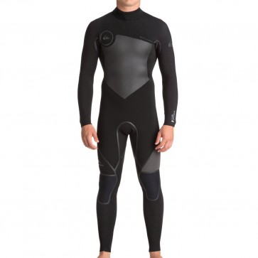 Quiksilver Syncro Plus 4/3 Back Zip Wetsuit - Black/Jet Black