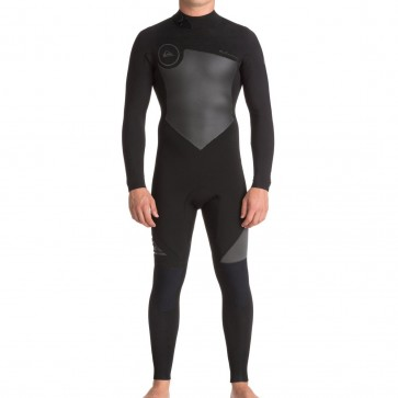 Quiksilver Syncro 4/3 Back Zip Wetsuit - Black/Jet Black