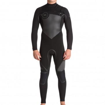Quiksilver Syncro Plus 3/2 Chest Zip Wetsuit - Black/Jet Black
