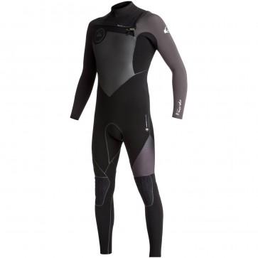 Quiksilver Highline Plus 3/2 Chest Zip Wetsuit - Black/Jet Black