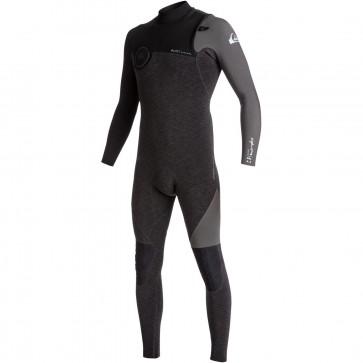 Quiksilver Highline 4/3 Zipperless Wetsuit - Heather Black/Jet Black