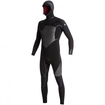 Quiksilver Syncro Plus 5/4/3 Hooded Chest Zip Wetsuit - Black/Jet Black