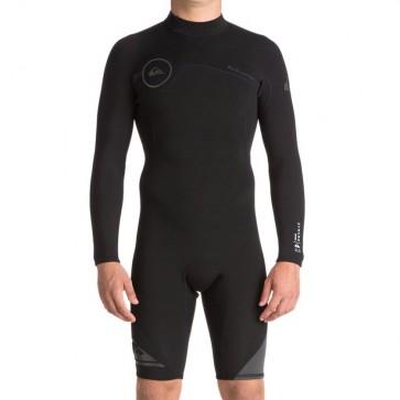 Quiksilver Syncro 2mm Long Sleeve Back Zip Spring Wetsuit - Black/Jet Black