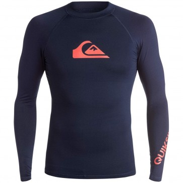 Quiksilver Wetsuits All Time Long Sleeve Rash Guard - Navy Blazer
