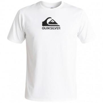 Quiksilver Wetsuits Solid Streak Short Sleeve Rash Guard - White