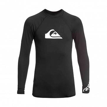 Quiksilver All Time Long Sleeve Rash Guard - Black
