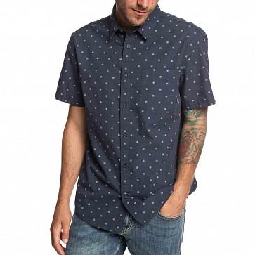 Quiksilver Mini Fins Short Sleeve Shirt - Blue Night Mini Fins