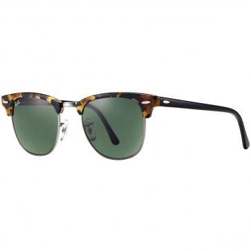 Ray-Ban Clubmaster Fleck Sunglasses - Tortoise Black/Green Classic