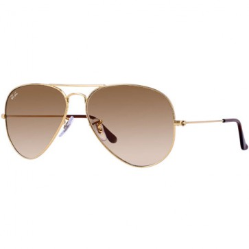 Ray-Ban Aviator Sunglasses - Gold/Crystal Brown Gradient