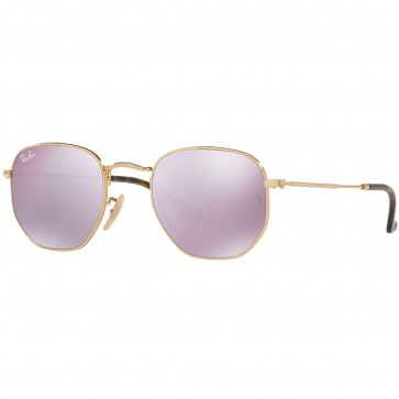 Ray-Ban Hexagonal Flat Sunglasses - Gold/Lilac Mirror