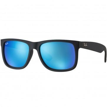 Ray-Ban Justin Sunglasses - Black/Blue Mirror